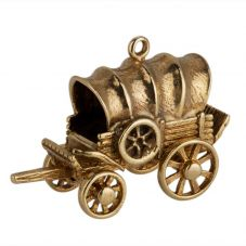 Second Hand 9ct Yellow Gold Old Wagon Charm Pendant 4152162