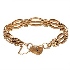 Second Hand Curved Three Bar Gate Bracelet 4153184