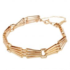 Second Hand 9ct Yellow Gold Four Bar Gate Bracelet 4153192