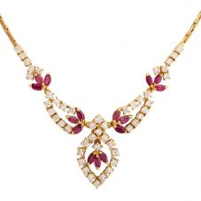 Second Hand Ruby and Diamond Decorative Necklet 4156737