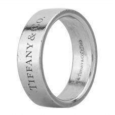 Second Hand Tiffany And Co Platinum Band LOT440(07/18)