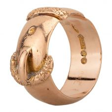 Second Hand 9ct Rose Gold Buckle Ring F606011(446)