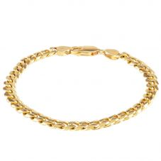 Second Hand 9ct Yellow Gold Flat Curb Chain Bracelet 4174947