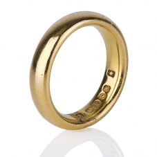 Second Hand 22ct Yellow Gold Plain Wedding Ring 4187394