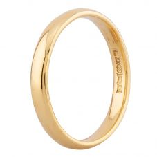 Second Hand 18ct Yellow Gold Plain Wedding Ring J.422397(374)
