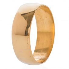 Second Hand 22ct Yellow Gold 7mm Plain D Shaped Wedding Ring 4187608