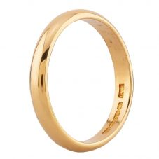 Second Hand 22ct Yellow Gold Plain Wedding Ring J479378(413)
