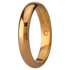 Second Hand 22ct Yellow Gold 3.5mm D shape Wedding Ring 4187711
