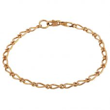Second Hand 9ct Yellow Gold Curved Link Fancy Bracelet G.458100(397)