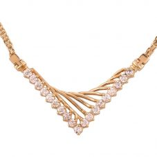 Second Hand 18 Inch 1.90ct Diamond Fancy V Necklace 4304023
