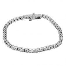 Second Hand 14ct White Gold 5.00ct Diamond Tennis Bracelet 4307039