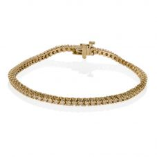 Second Hand 18ct Yellow Gold Diamond Tennis Bracelet 4307725