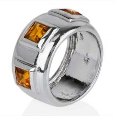 Second Hand 18ct White Gold Citrine Ring 4309993