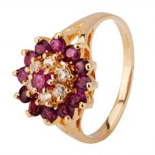 Second Hand 9ct Yellow Gold Ruby and Diamond Ring 4312143