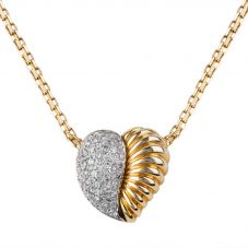 Second Hand 14ct Yellow Gold Diamond Heart Necklace 4314970