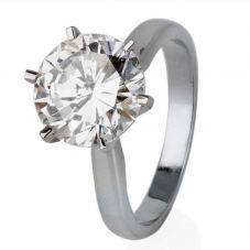 Second Hand Platinum 3.45ct Diamond Solitaire Ring 4328070
