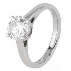 Second Hand Platinum 1.50ct Brilliant Diamond Solitaire Ring 4328114