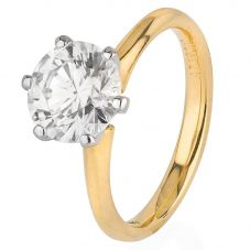Second Hand 18ct Yellow Gold 2.39ct Diamond Solitaire Ring 4328206