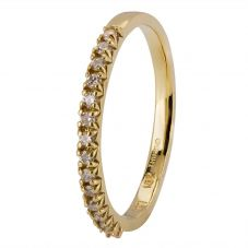 Second Hand 18ct Yellow Gold Diamond Half Eternity Ring 4328213