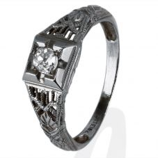 Second Hand 18ct White Gold Old Cut Diamond Ring 4229145