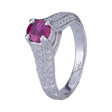 Second Hand 18ct White Gold Ruby and Diamond Ring 4332010