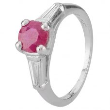 Second Hand Platinum Ruby and Diamond Ring 4332014