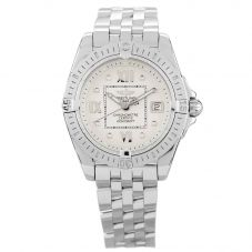Second Hand Breitling Cockpit Lady Silver Bracelet Watch A71356