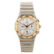 Second Hand Omega Constellation Chronograph Two Tone Bracelet Watch 4406005-31153