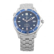 Second Hand Omega Seamaster 300m Chronometer Blue Bracelet Watch 2531.80.00