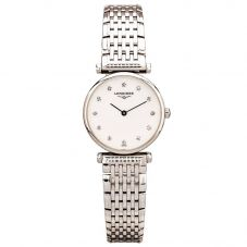 Second Hand Longines La Grande Classique Diamond Set Silver Bracelet Watch 4410005