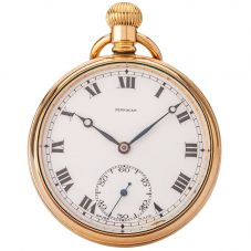 Second Hand Pinnacle Swiss Made Open Case Pocket Watch 4410009