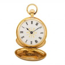 Second Hand 18ct Yellow Gold Small Full Hunter Pocket Watch D604044(440)