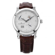 Second Hand Jaeger Le Coultre Reserve De Marche Brown Leather Strap Watch N516944(445)