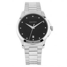 Second Hand Gucci G-Timeless Diamond Black Bracelet Watch M325258(454)