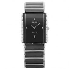 Second Hand Rado Jubile Diamond Star Black Bracelet Watch H511032(445)