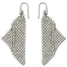 Swarovski Fit Clear Crystal Mesh Dropper Earrings 976061