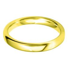 18ct Gold 3.0mm Court Wedding Ring BC3.0 18Y