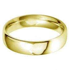 18ct Gold 5.0mm Court Wedding Ring BC5.0 18Y