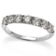 Mastercut Simplicity Four Claw 18ct White Gold 1.20ct Seven Stone Diamond Half Eternity Ring C5RG004 105W