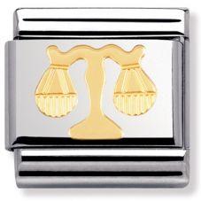 Nomination CLASSIC Gold Zodiac Libra Charm 030104/07