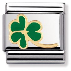 Nomination CLASSIC Gold Nature Clover With Stem 030214/23