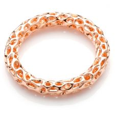 Rachel Galley Allegro Rose Gold Plated Lattice Ring A301RGSM