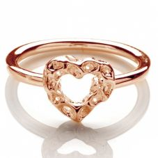 Rachel Galley Rose Gold Plated Small Love Heart Ring H301RGMD
