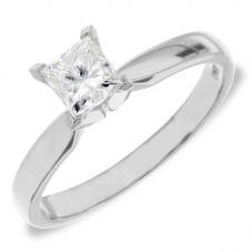 Platinum 4 Claw Princess Cut Certificated Diamond Ring M94-B3(2.00CT PLUS)- I/VS2/2.00ct