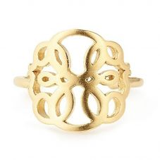 ALEX AND ANI Gold Plated Path Of Life Adjustable Ring PC18ERPOLG