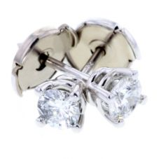 Arctic Circle Diamonds 18ct White Gold 0.40ct Diamond Round Single Stone Studs UKE234840