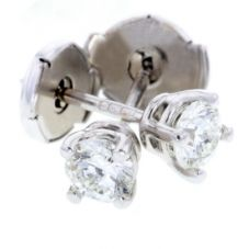 Arctic Circle Diamonds 18ct White Gold 0.50ct Diamond Round Single Stone Studs UKE234850