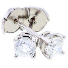 Arctic Circle Diamonds 18ct White Gold 0.70ct Diamond Round Single Stone Studs UKE234870
