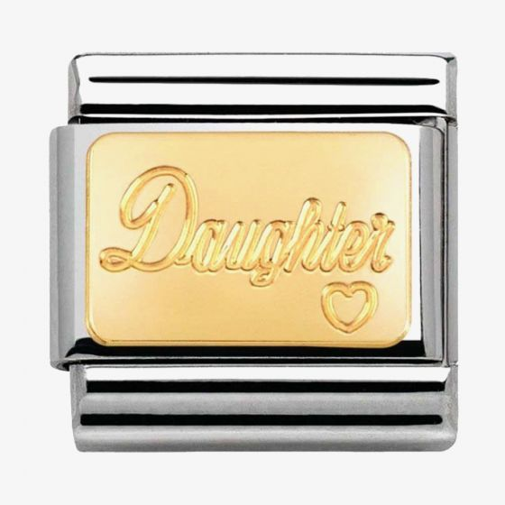 Nomination CLASSIC Gold Family Daughter Charm