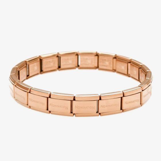 Nomination CLASSIC Stainless Steel 17 Link Rose Gold Base Bracelet